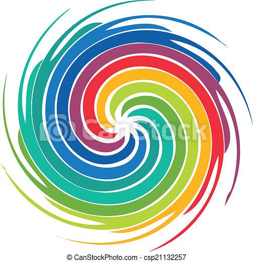 tourbillon, logo, résumé, image, coloré - csp21132257