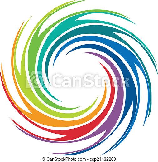 tourbillon, logo, résumé, image, coloré - csp21132260