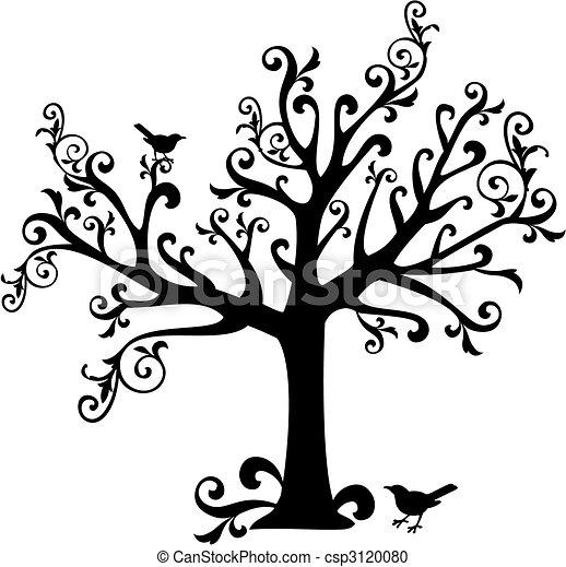 tourbillons, arbre - csp3120080