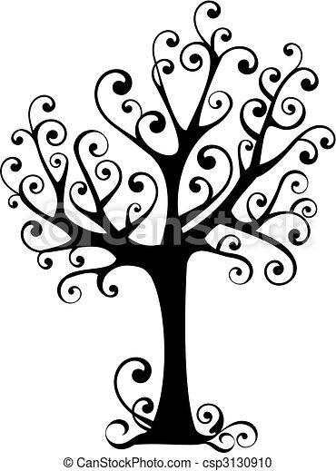 tourbillons, arbre - csp3130910