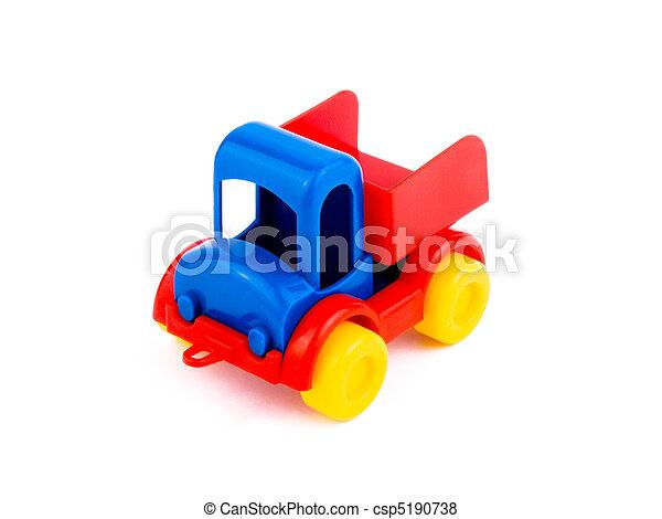 toy-car, coloré, fond blanc - csp5190738