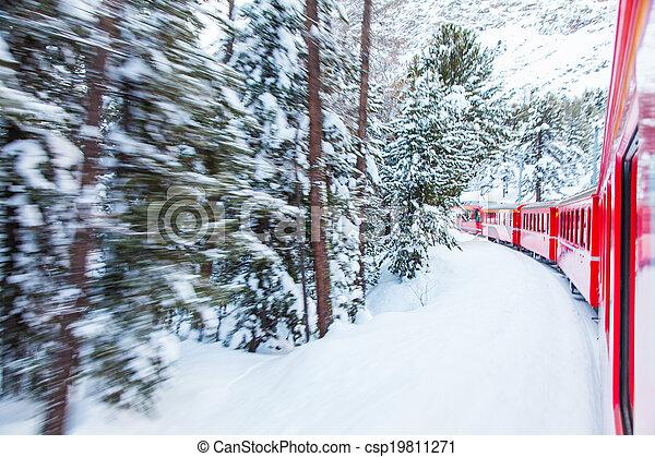 train, neige - csp19811271