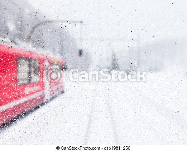 train, neige - csp19811256
