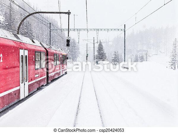 train, neige - csp20424053