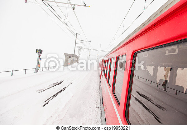 train, neige - csp19950221