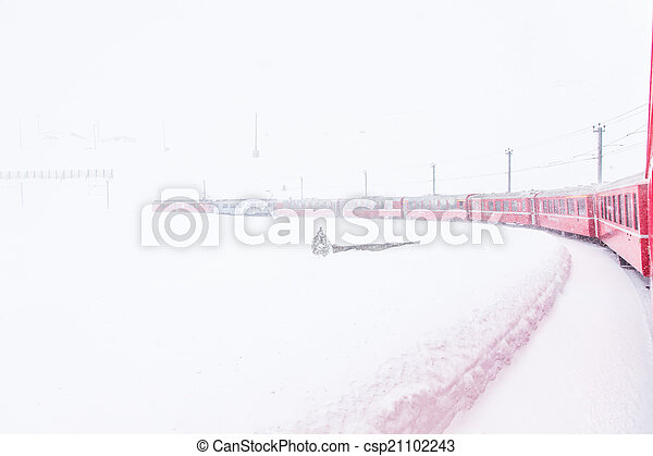 train, neige - csp21102243