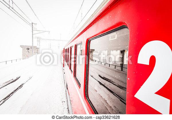 train, neige - csp33621628