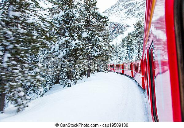 train, neige - csp19509130