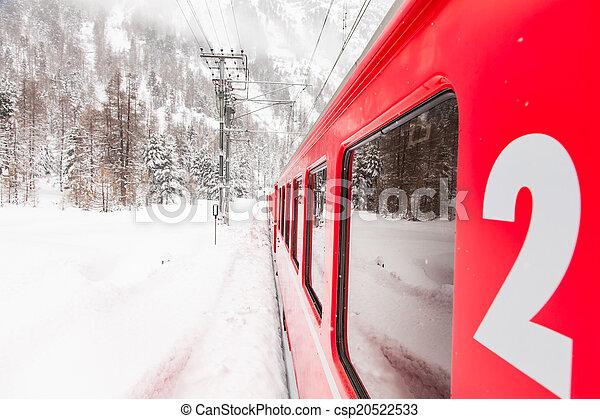train, neige - csp20522533