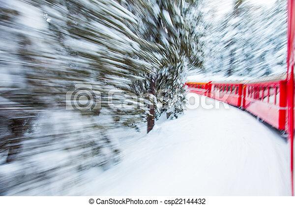 train, neige - csp22144432