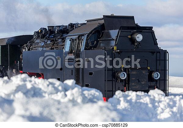 train, neige, vapeur - csp70885129