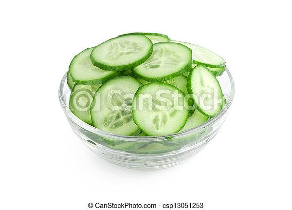 tranches concombre - csp13051253