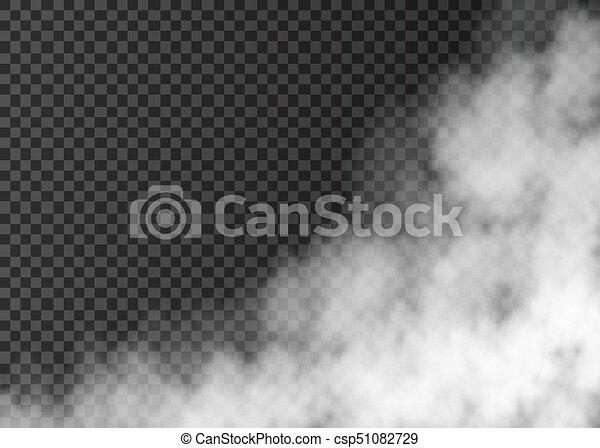 transparent, fumée, isolé, blanc, arrière-plan. - csp51082729