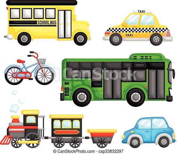 transport, vecteur, ensemble, terre - csp33832297