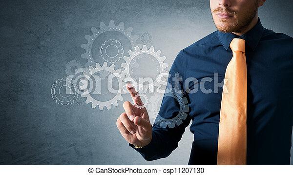 travail, engrenage, ingénieur - csp11207130