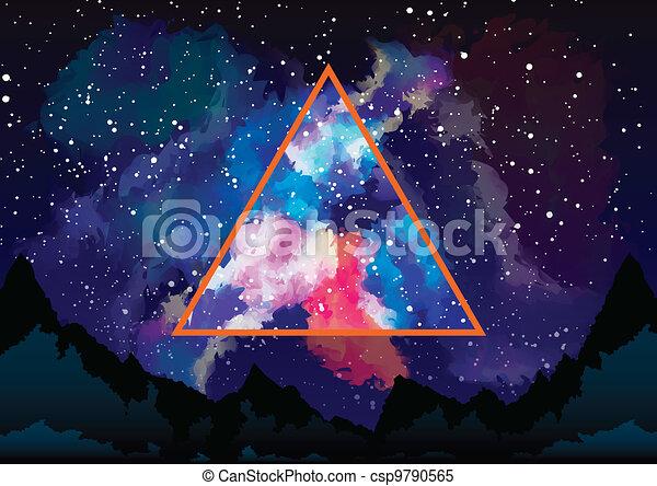 triangle, mystique, par, astral, galaxie, vue - csp9790565