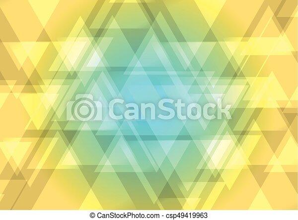 triangle, résumé, chevauchement, bas, dessus, fond - csp49419963