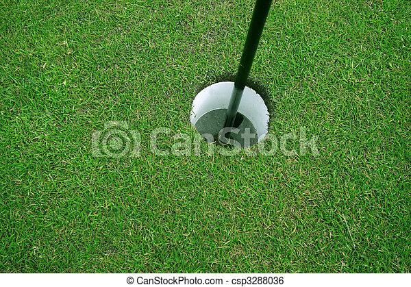 trou, golf - csp3288036