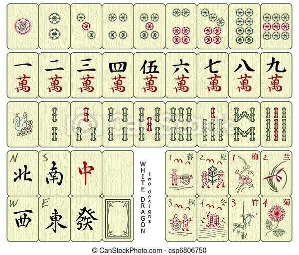 tuiles, mahjong - csp6806750