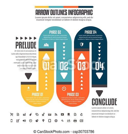 tuyau, plat, infographic - csp30703786