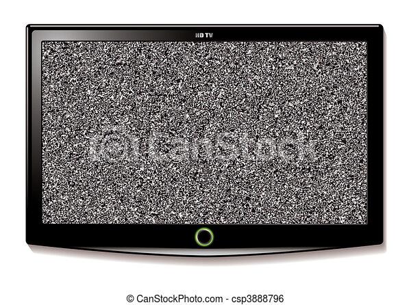 tv, mur, lcd, pendre, statique - csp3888796