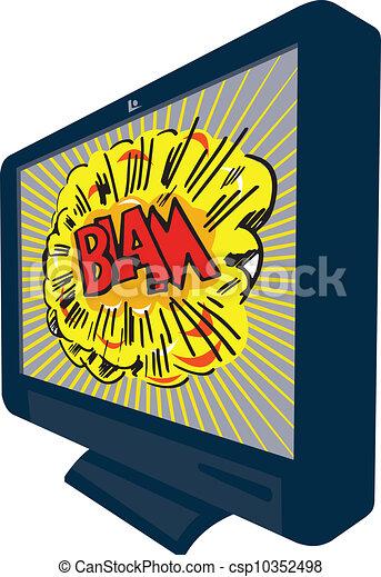 tv, plasma, lcd, blam, tã©lã©viseur - csp10352498