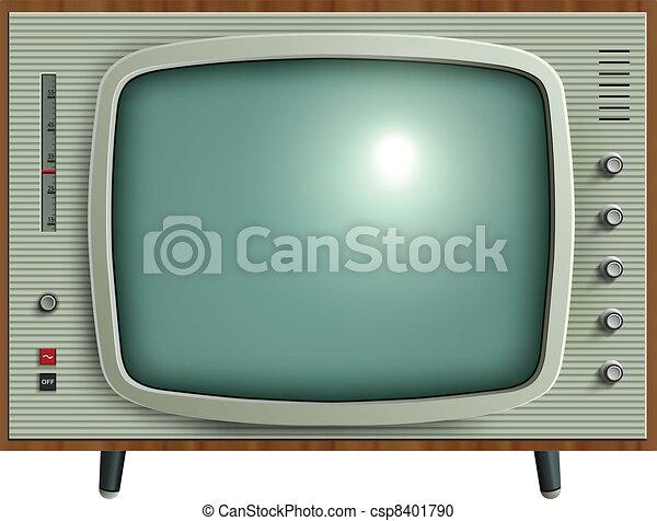 tv, retro - csp8401790