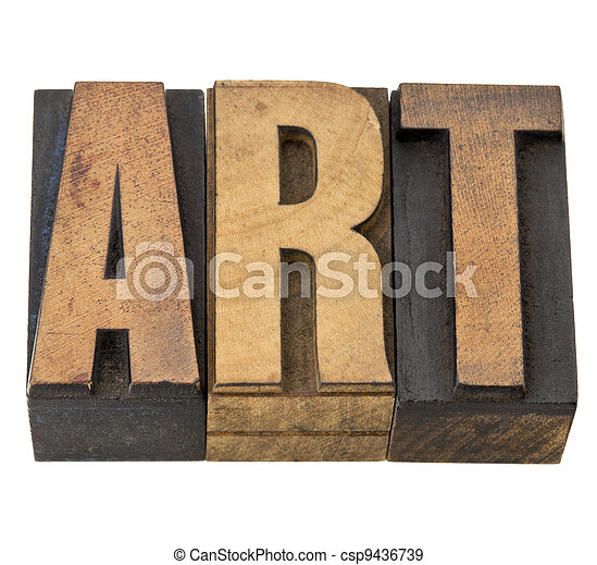 type, art, bois, mot - csp9436739