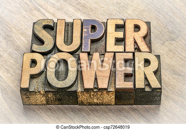 type, résumé, bois, mot, superpuissance - csp72648019