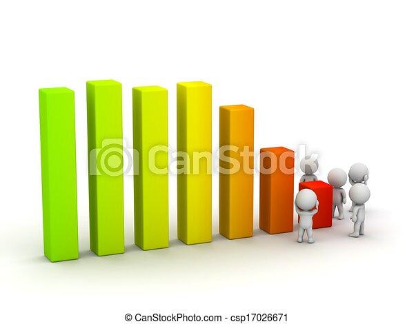 types, diagramme, souci, profit, perte, 3d - csp17026671