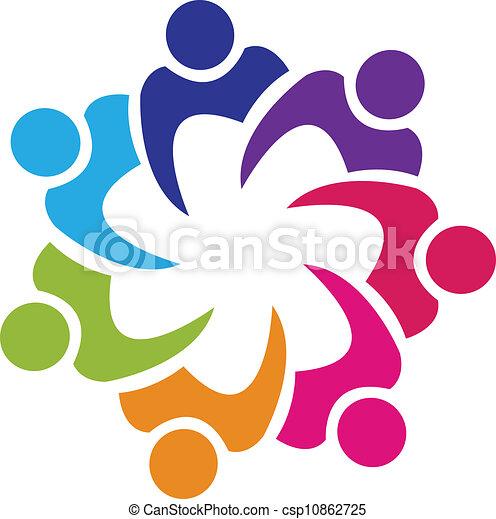 union, logo, vecteur, collaboration, gens - csp10862725