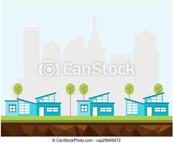 urbain, maisons - csp29946472