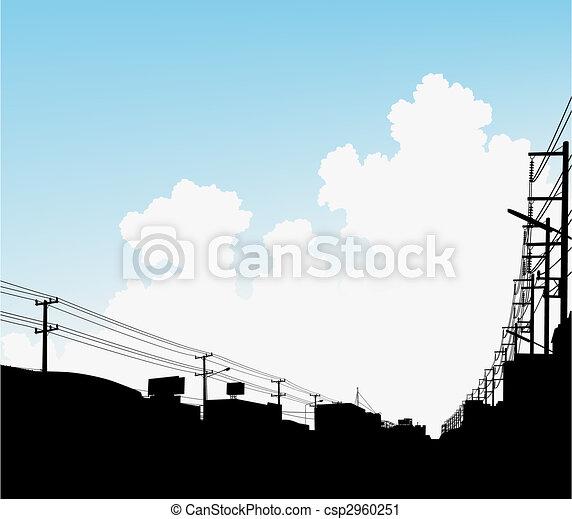 urbain, nuages - csp2960251