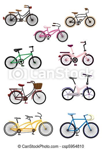 vélo, dessin animé - csp5954810