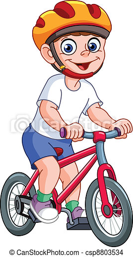 vélo, gosse - csp8803534