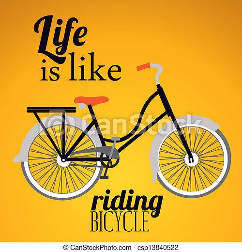 vélo, illustration - csp13840522