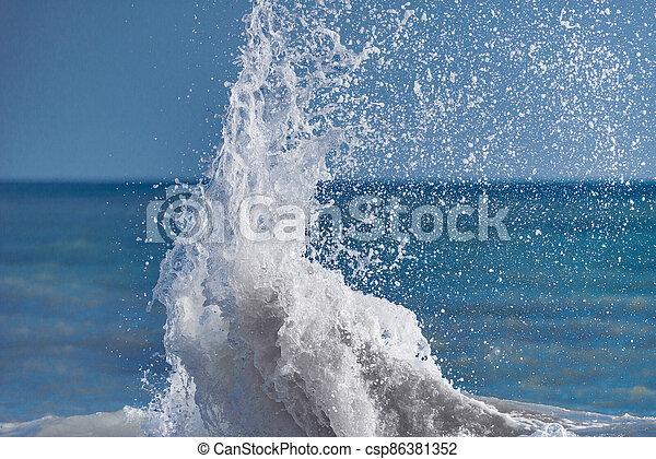vague, mer, water. - csp86381352