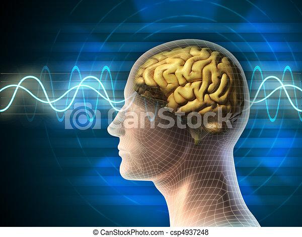 vagues cerveau - csp4937248