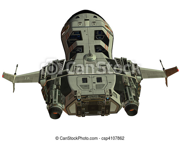 vaisseau spatial, futuriste - csp4107862