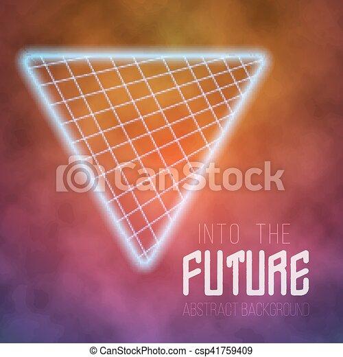 vecteur, affiche, néon, disco, arrière-plan., avenir, retro, poste - csp41759409