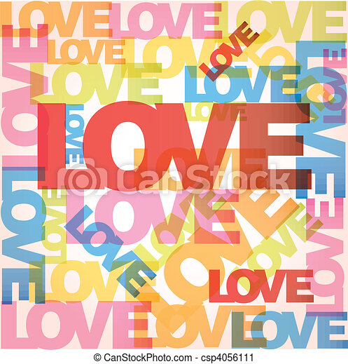 vecteur, amour, fond - csp4056111