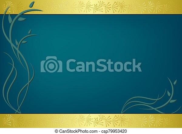 vecteur, carte, vert, flore - csp79953420
