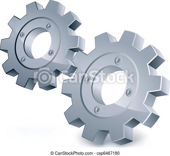 vecteur, engrenages - csp6467180