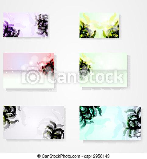 vecteur, eps10, résumé, illustration, fond, floral, élégant, ensemble - csp12958143
