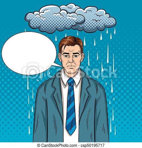 vecteur, mauvaise humeur, pop, illustration, art, type - csp50195717