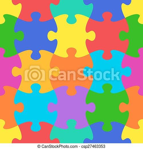 vecteur, modèle, puzzle, puzzle, seamless - csp27463353