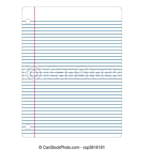 vecteur, papier, cahier - csp3616191