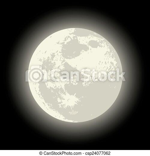 Vecteur Pleine Lune Disponible Separe Entiers Groupes Format Editer Lune Vecteur Facile Eps 10 Canstock
