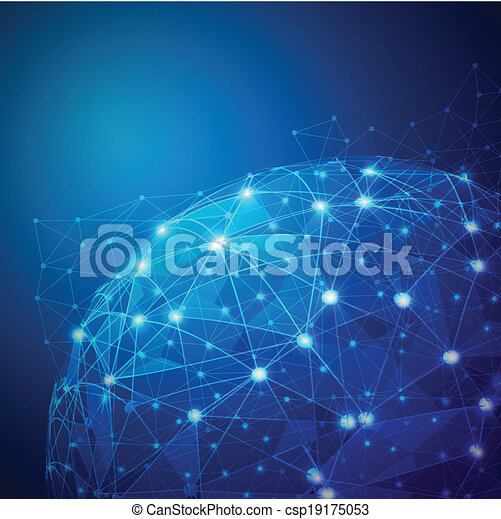 vecteur, réseau, numérique, maille, global, illustration - csp19175053