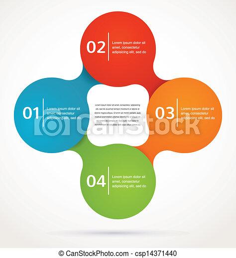vecteur, résumé, infographics, fond, conception, icône - csp14371440